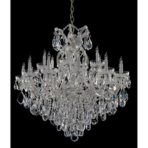 Maria Theresa Polished Chrome Nineteen-Light Chandelier with Swarovski Spectra Crystal