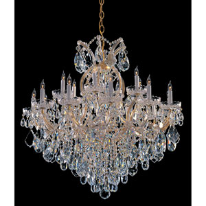 Maria Theresa Gold Eighteen-Light Chandelier with Swarovski Spectra Crystal