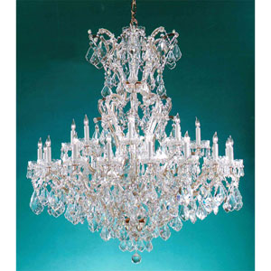 Maria Theresa Gold 25 Light Clear Crystal Chandelier