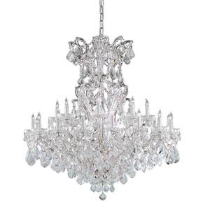 Maria Theresa Polished Chrome Twenty-Four-Light Chandelier with Swarovski Spectra Crystal
