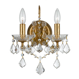 Filmore Antique Gold Two-Light Sconces