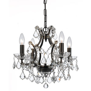 Filmore Vibrant Bronze Four-Light Chandeliers