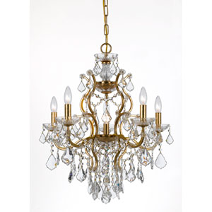 Filmore Antique Gold Six-Light Chandeliers