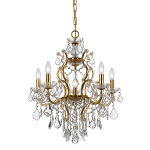 Filmore Antique Gold Six-Light Chandelier