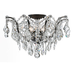 Filmore Vibrant Bronze Five-Light Semi-Flush Mount Fixture