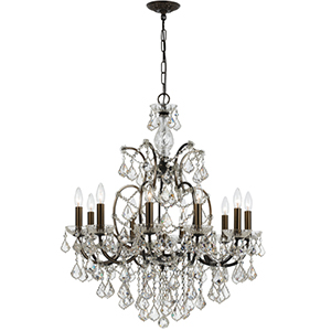 Filmore Vibrant Bronze 10-Light Swarovski Strass Chandelier