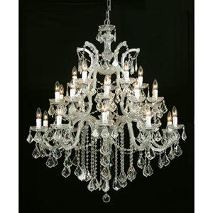 Maria Theresa Gold Twenty-Six-Light Chandelier with Swarovski Strass Crystal