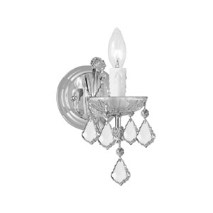 Maria Theresa Polished Chrome Wall Mount Draped In Hand Cut Crystal
