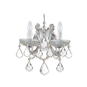 Maria Theresa Two-Light Crystal Wall Sconce