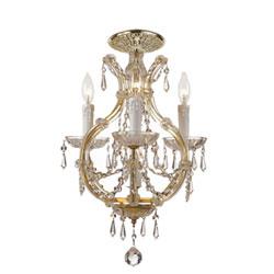 Maria Theresa Gold Four Light Swarovski Spectra Crystal Ceiling Mount