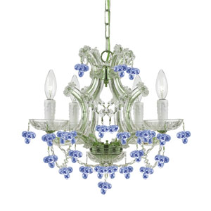 Hot Deal Chrome Four-Light Chandeliers