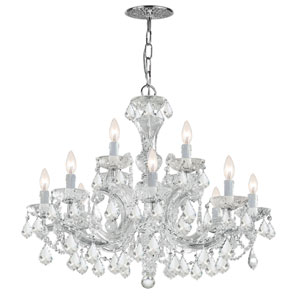 Maria Theresa Polished Chrome 29-Inch Twelve-Light Chandelier