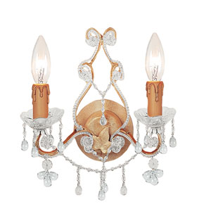 Paris Flea Champagne Two-Light Murano Crystal Sconce