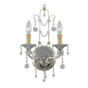 Lena Silver Leaf Two-Light Wall Sconce