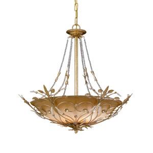 Victoria Gold Leaf Bowl Pendant