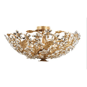 Victoria Gold Leaf Flush Mount Ceiling Light