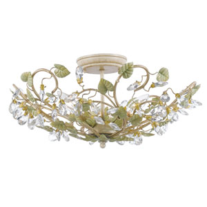 Josie Champagne Green Tea Five-Light Semi-Flush Mount Fixture