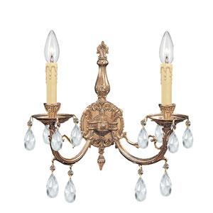 Etta Ornate Cast Brass Sconce with Swarovski Strass Crystal