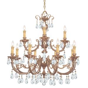 Etta Ornate Cast Brass Eight-Light Chandelier with Swarovski Strass Crystal