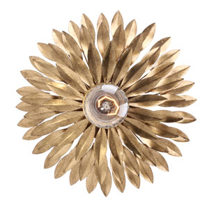 Broche Antique Gold Flush Mount
