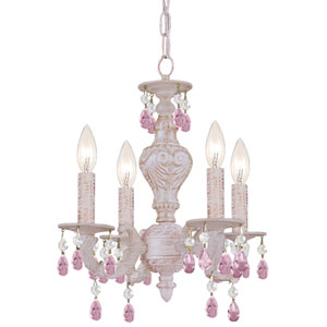 Sutton Majestic Wood Polished Crystal Mini Chandelier