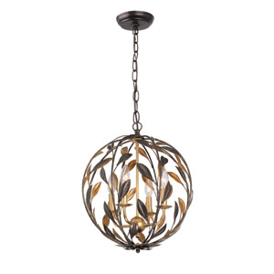 Broche English Bronze Four-Light Globe Pendant