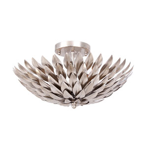 Broche Silver Four-Light Ceiling Mount