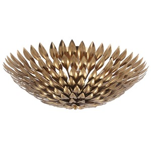 Broche Antique Gold Six-Light Semi-Flush