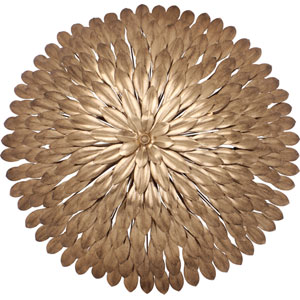 Broche Antique Gold Six-Light Flush-Mount Fixture