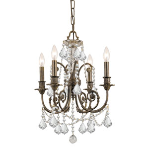 St. Regis Clear Swarovski Strass Crystal Four-Light Chandelier