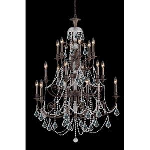 Regis English Bronze Eighteen-Light Crystal Chandelier