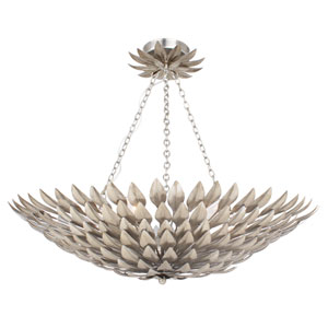 Broche Antique Silver 16-Inch Six-Light Semi Flush Mount