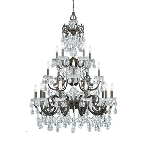 Legacy English Bronze 34.5-Inch 20-Light Chandelier