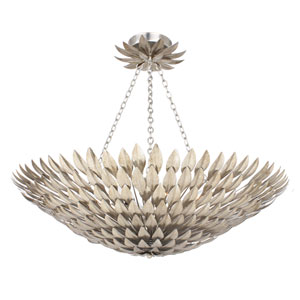 Broche Antique Silver Eight-Light Semi-Flush Mount
