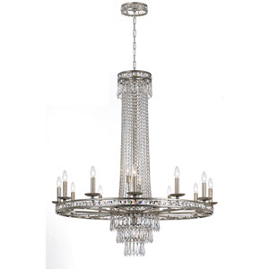 Mercer Silver Sixteen-Light Crystal Chandelier