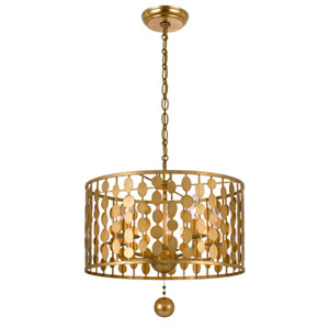 Layla Antique Gold Five-Light Chandelier