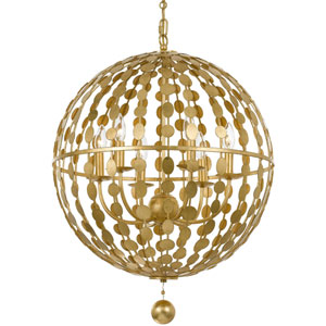 Layla Antique Gold Six Light Chandelier