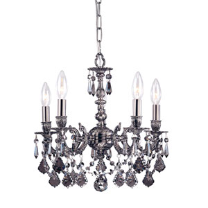 Mirabella Pewter Four-Light Mini Chandelier with Swarovski Strass Crystal