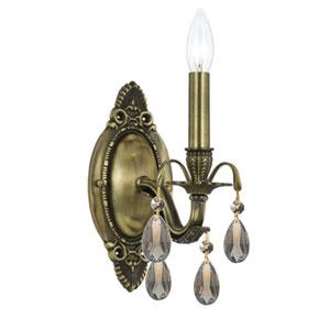 Dawson Antique Brass Golden Teak Hand Cut Wall Sconce