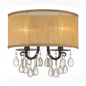 Hampton English Bronze Two-Light Sconces
