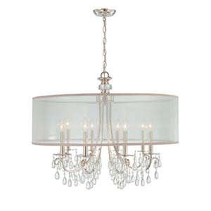 Hampton Polished Chrome Crystal Eight-Light Pendant