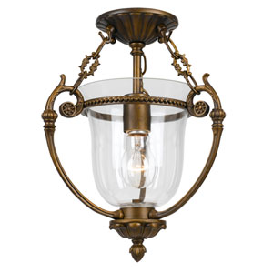 Camden Brass One-Light Glass Ceiling Mount