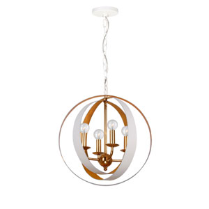 Luna Matte White Four-Light Pendant