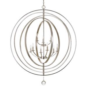 Luna Antique Silver Nine-Light Chandelier