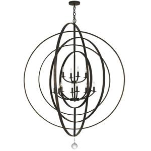 Luna English Bronze Twelve-Light Pendant