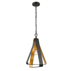 Luna Bronze and Gold One-Light Chandelier