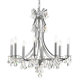 Cedar Polished Chrome Eight-Light Chandelier with Clear Swarovski Strass Crystal