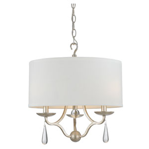 Manning Silver Leaf Three-Light Ceiling Mount