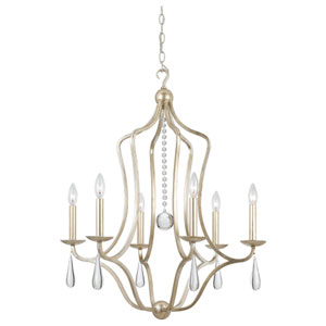 Manning Silver Leaf Six-Light Chandelier