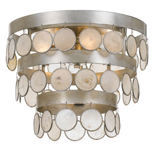 Coco Antique Silver Four-Light Flush Mount